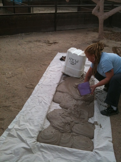 photo 3-4 clay mixing